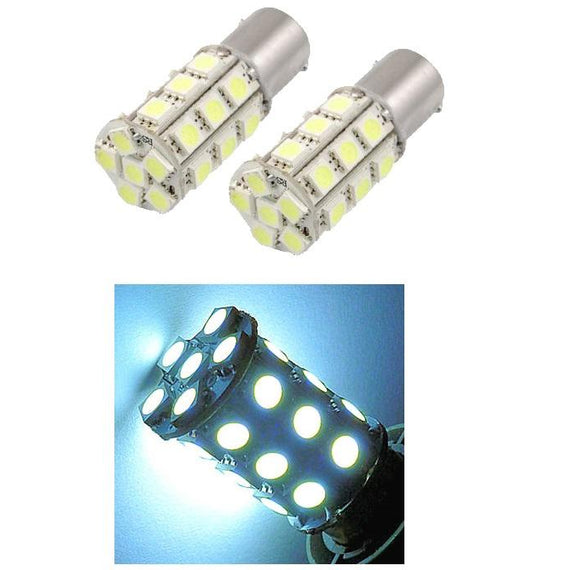 1156 (BA15S/7506/P21W) 27-SMD 5050 LED Replacement Bulbs - 4 Color - Autolizer