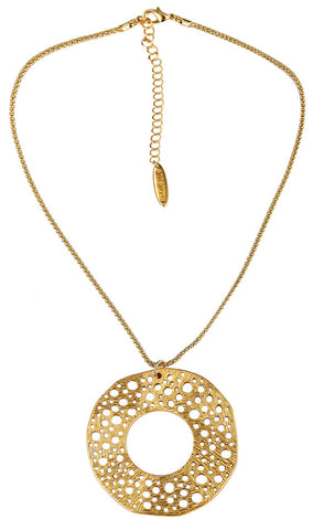 Circle Necklace Gold