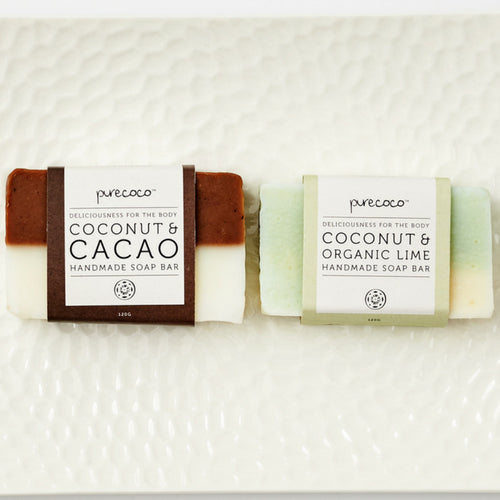Organic Coconut & Cacao Soap Bar (Handmade in NZ)