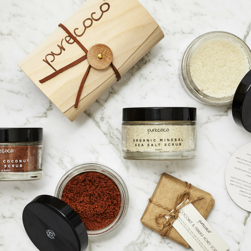 Organic Sugar & Salt Body Scrub Box Set
