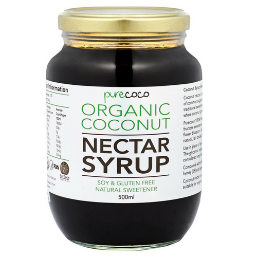 Organic Coconut Nectar Syrup (natural liquid sweetener)