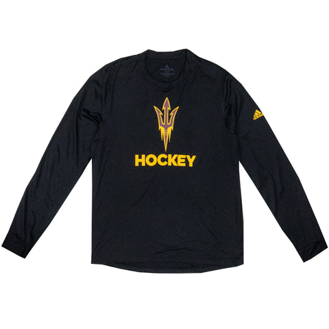 ASU Hockey Men's Black Creator Long Sleeve T-Shirt