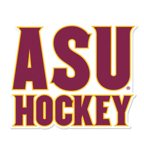"ASU Hockey 8"" x 8"" Perfect Cut Decal"