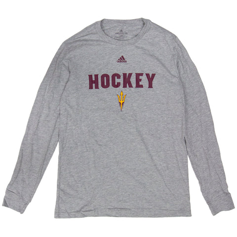 ASU Hockey Men's Gray Amplifier Long Sleeve T-Shirt