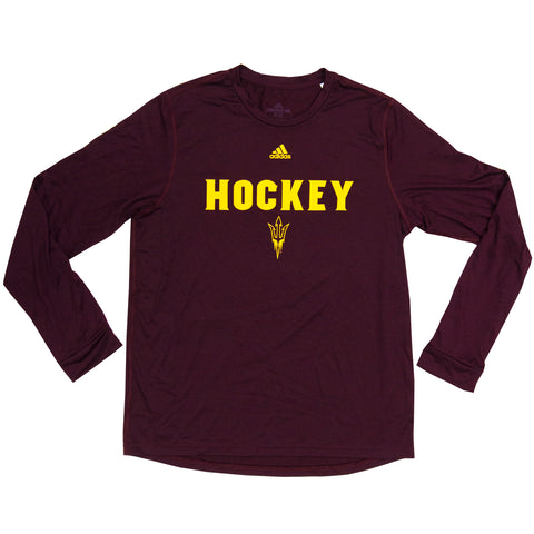 ASU Hockey Men's Maroon Creator Long Sleeve T-Shirt