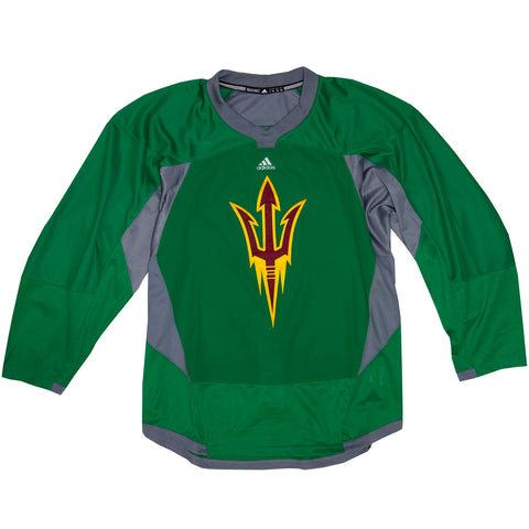 ASU Hockey Team Stock Green Practice Jerseys