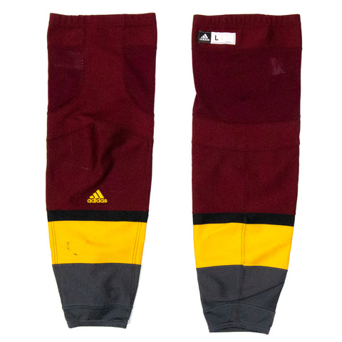 ASU Hockey Team Stock 2019-2020 Maroon Game Socks