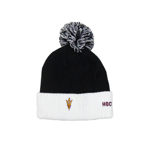 ASU Hockey Black/White Cuffed Knit Hat