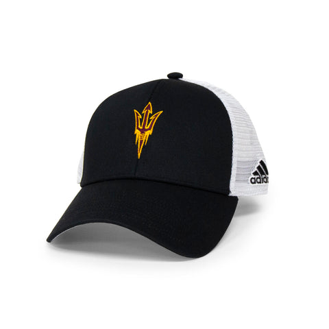 ASU Hockey Black/White Adidas Trucker Hat