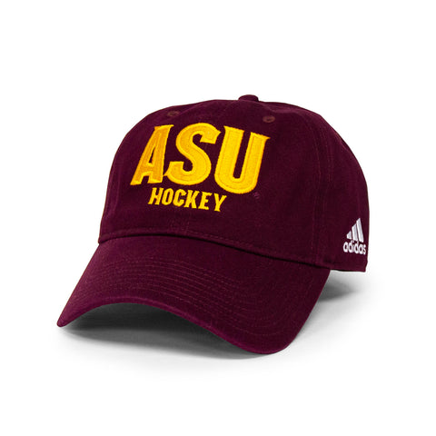 ASU Hockey Maroon Adjustable Hat