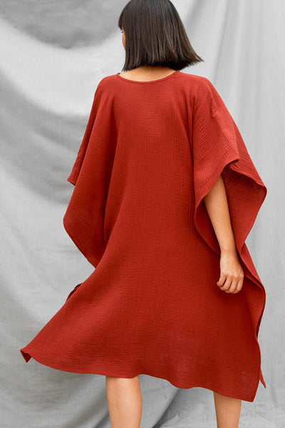 Oversized Dart Dress - Paprika - DevlynvanLoon