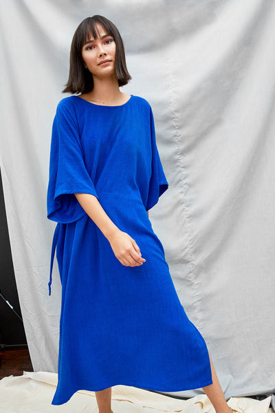 Tie Back Dress - Lapis - DevlynvanLoon