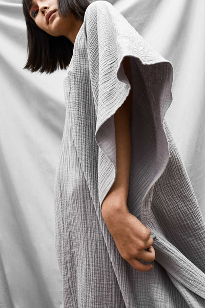 Oversized Dart Dress - Fog - DevlynvanLoon