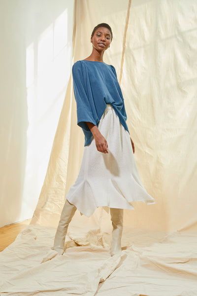 Gathered Tunic - Aegean Blue