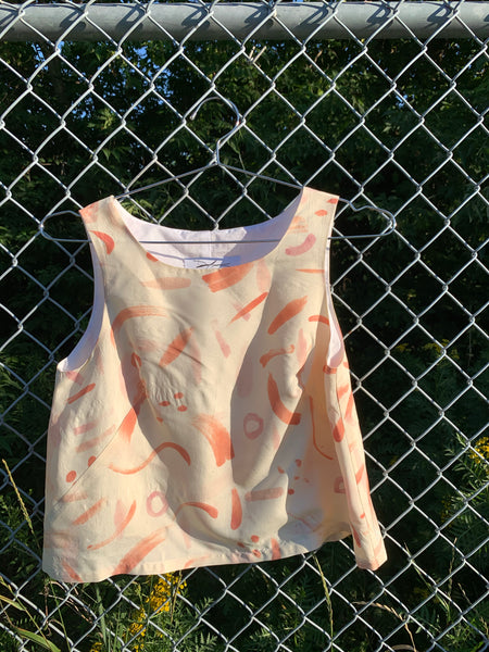 Shift Tank - Hand-Painted Silk