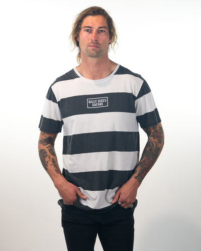 Striped Panel Tee