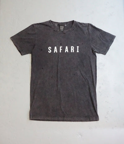 Safari Tee / Vintage Black