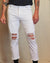 Chopper Denim Jeans - White