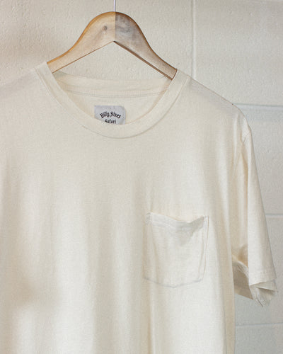Blank Pocket Tee - White