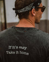 Take it Easy Tee / Vintage Black