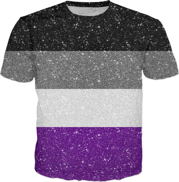 Glitter Asexual Pride Flag