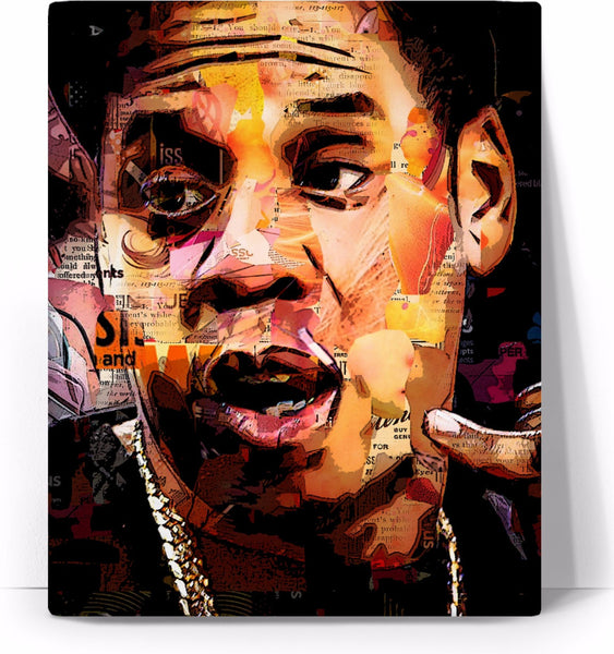 Jay Z Collage Canvas