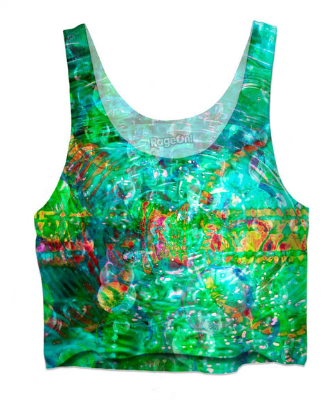 Green Love Potion 7 Crop Top