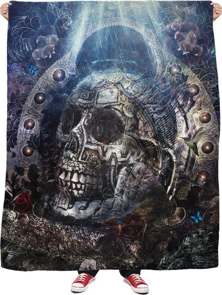 Memento Mori Fleece Blanket