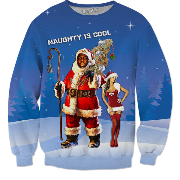"B.I.G. Santa ""Naughty Is Cool"" (Hoodie & Sweatshirt)"