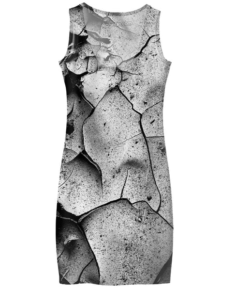Abstract Cracks Simple Dress