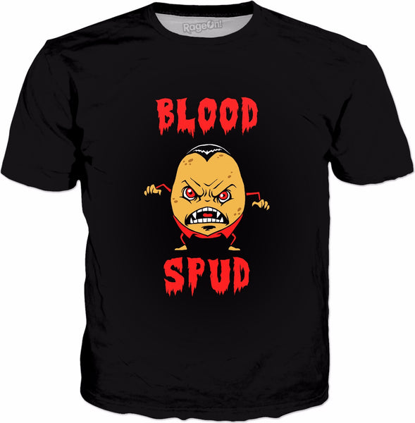Blood Spud T-Shirt - Funny Potato Vampire Halloween