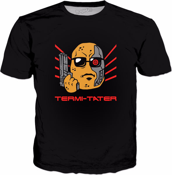 Termi-tater T-Shirt - Funny Potato Robot Killer