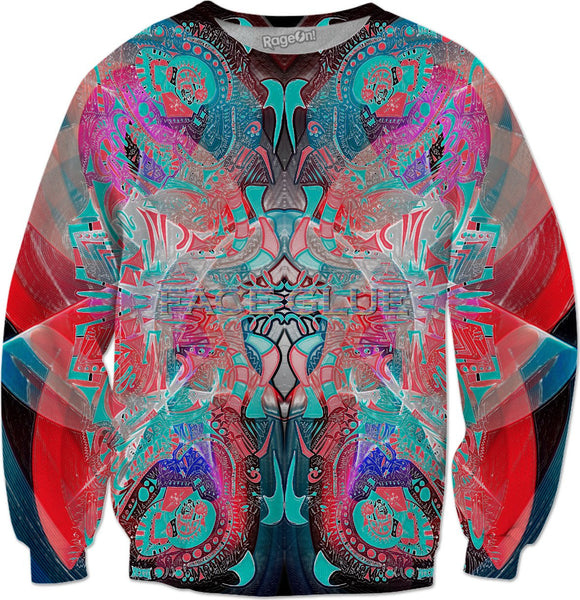 Hyperdimensional Face Glue Sweatshirt