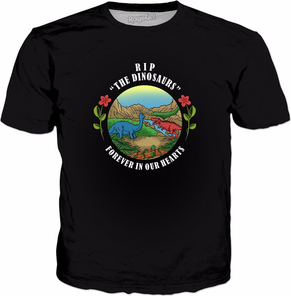 RIP The Dinosaurs Forever In Our Hearts T-Shirt - Funny Dino