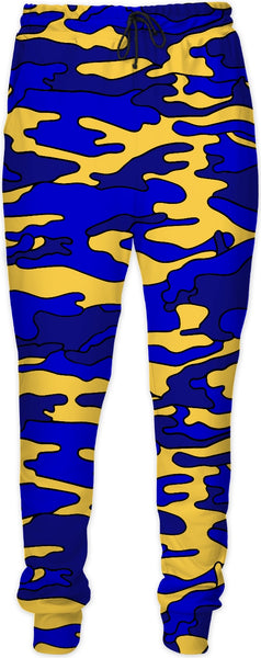 """Blue & Yellow Camo"" Joggers"