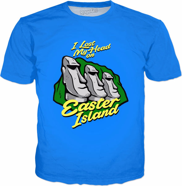 I Lost My Head On Easter Island T-Shirt - Funny Moai Statue