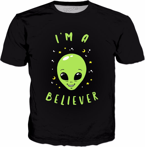 I'm A Believer Alien T-Shirt - Funny UFO Space Aliens