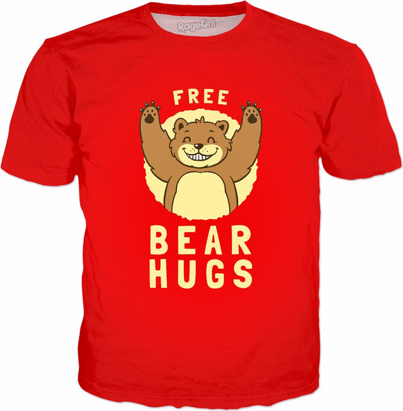 Free Bear Hugs T-Shirt - Funny Bear Animal Joke