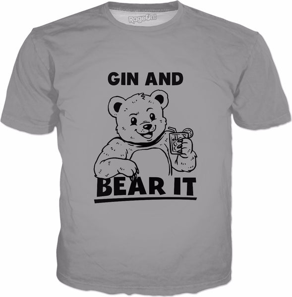 Gin And Bear It T-Shirt - Funny Sayings Gin Tonic