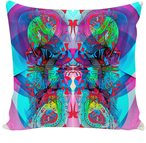 Hyperdimensional Butterfly 3 Couch Pillow
