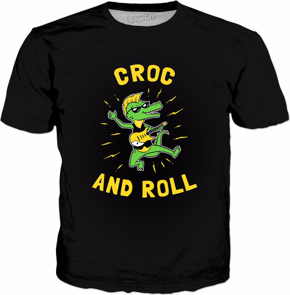 Croc And Roll T-Shirt - Funny Crocodile Rock and Roll