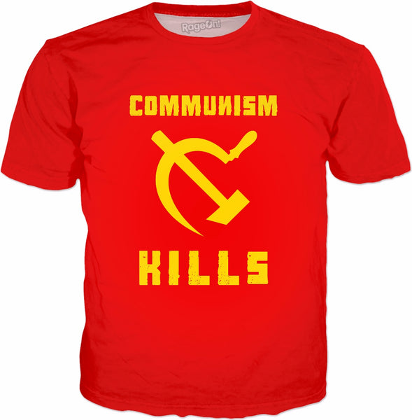 Communism Kills T-Shirt - Anti-Communist Protest