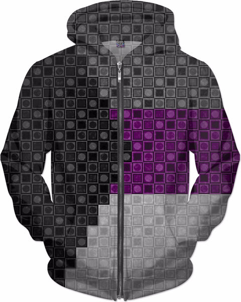 Demisexual Squares and Circles Flag Pattern