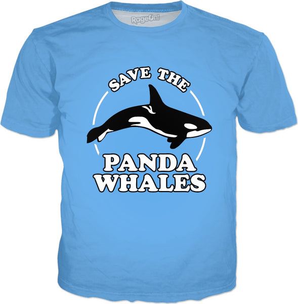 Save The Panda Whales T-Shirt