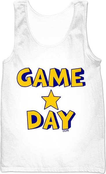 Blue & Yellow Game Day Star Stacked Tank Top