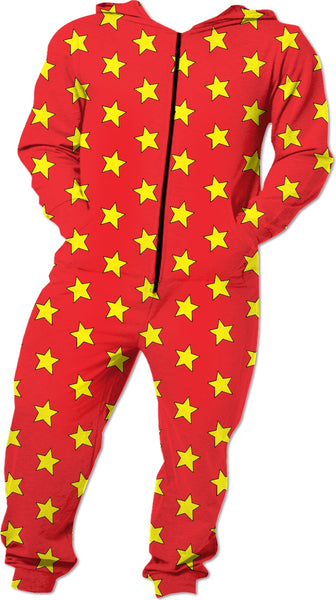 Yellow Stars Red Onesie