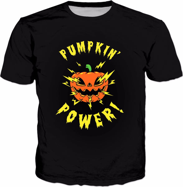 Pumpkin Power T-Shirt - Cute Cool Halloween Jack Lantern Tee