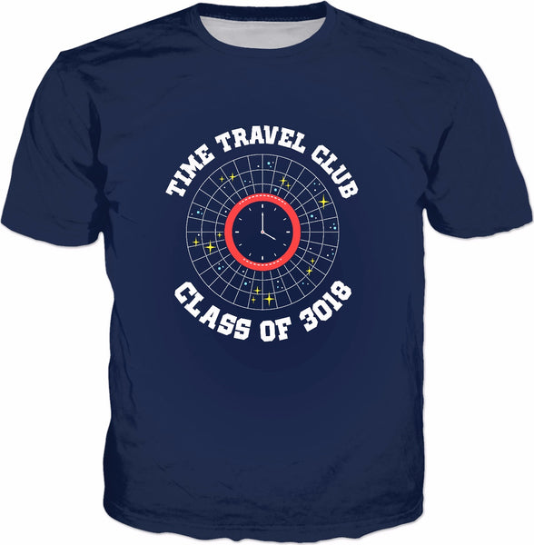Time Travel Club Class Of 3018 T-Shirt - Funny Science