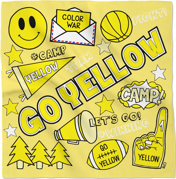 Go Yellow Color War Bandana
