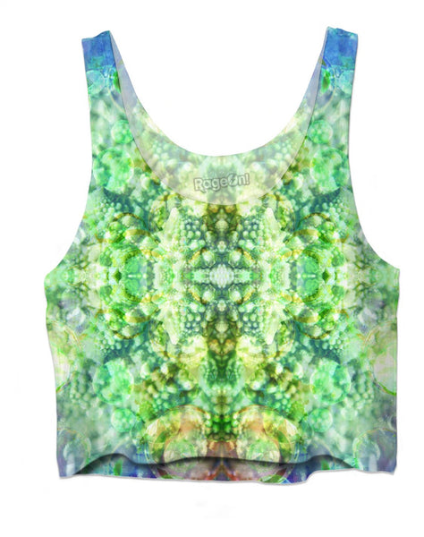 Fractal Bubble Diamonds God 7 Crop Top
